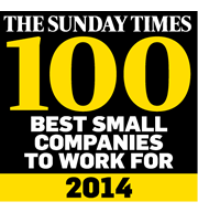 Sunday Times Best Small Companies award logo